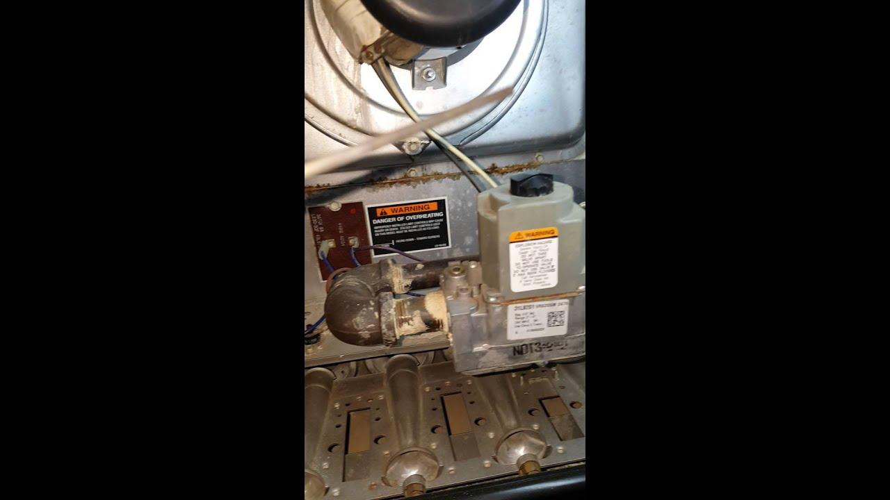 Gas Furnace Burner NOT turning on Furnace Lennox - YouTube