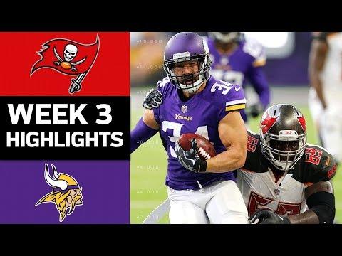 Buccaneers vs. Vikings   NFL Week 3 Game Highlights