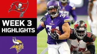 Buccaneers vs. Vikings | NFL Week 3 Game Highlights
