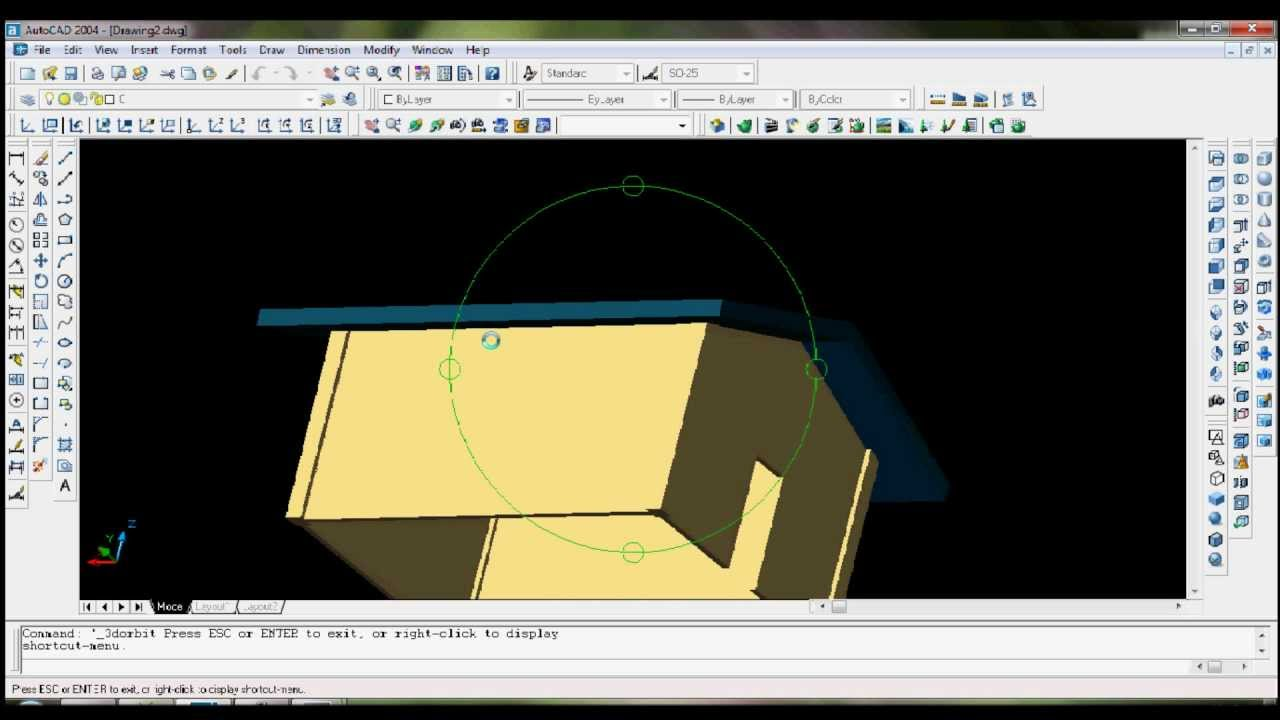 How to trim wall to roof in AutoCAD