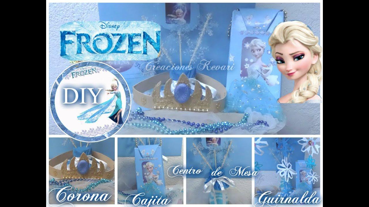 Diy fiesta de frozen bolsita o dulcero centro de mesa for Guirnaldas para fiestas infantiles