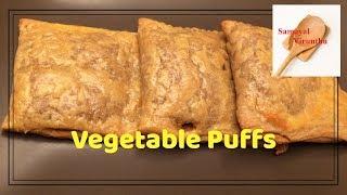 Vegetable Puffs in tamil,வஜடபள பபஸ,Homemade wheat flour veg puff recipe