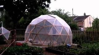 Building A Geodesic Dome Greenhouse: Time Lapse Video