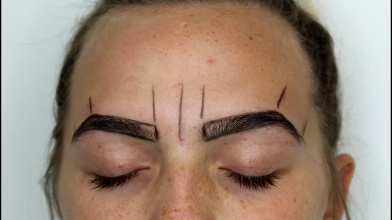 How To Draw Perfect Eyebrows Microblading Preperation Youtube