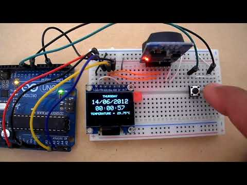 Arduino Real Time Clock And Temperature Monitor Using DS3231 And SSD1306 OLED