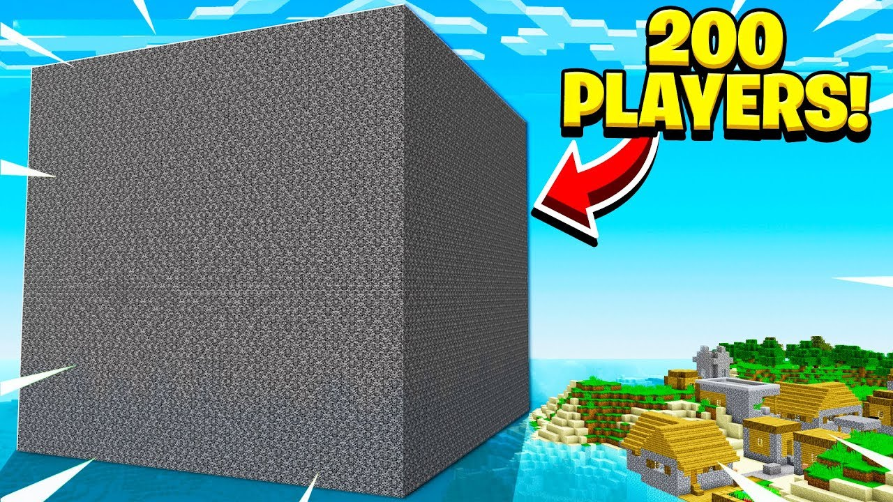 I *FORCED* 200 Minecraft Players Inside A GIANT Bedrock ...