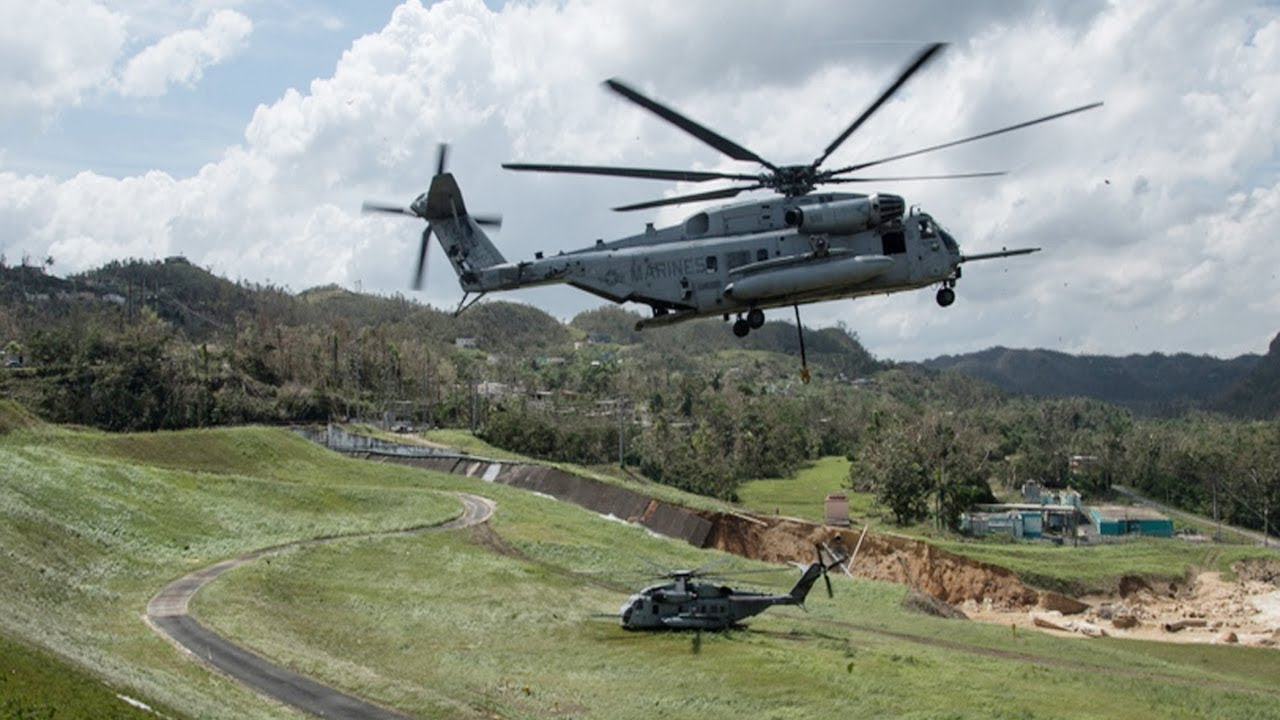 U S Marines Repair Hurricane Damage at the Guajataca Dam, Puerto Rico