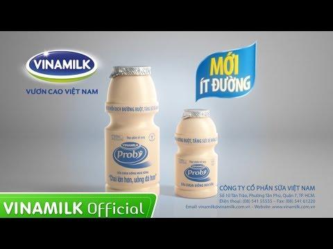 Quảng cáo sữa chua uống Vinamilk Probi ít đường mới