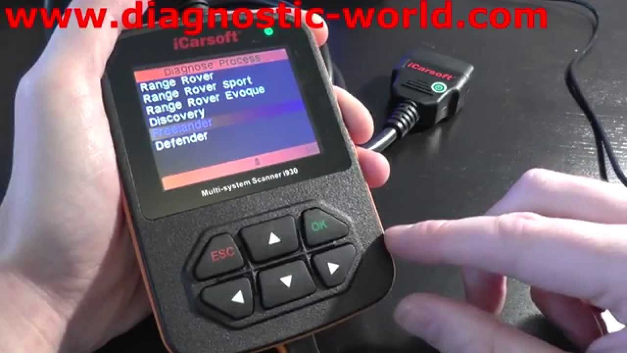 iCarsoft i930 Land Rover Presentation Diagnostic Tool Engine, ABS, Airbags