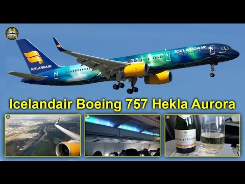 Icelandair Boeing 757 Hekla Aurora Business Class Frankfurt-Reykjavik [AirClips full flight series]