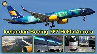 Icelandair Boeing 757 Hekla Aurora Business Class Frankfurt-Reykjavik [AirClips full flight series]