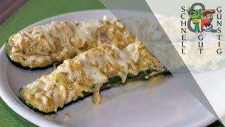 Gefüllte Zucchini (Schmand-Hackfleischfüllung): Schnell, Gut & Günstig Kochen: Hauptspeise
