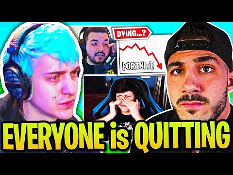 NINJA On Fortnite DYING...DrLUPO COURAGE NICKMERCS Explain Why They QUIT! Pros DEPRESSED & CRYING