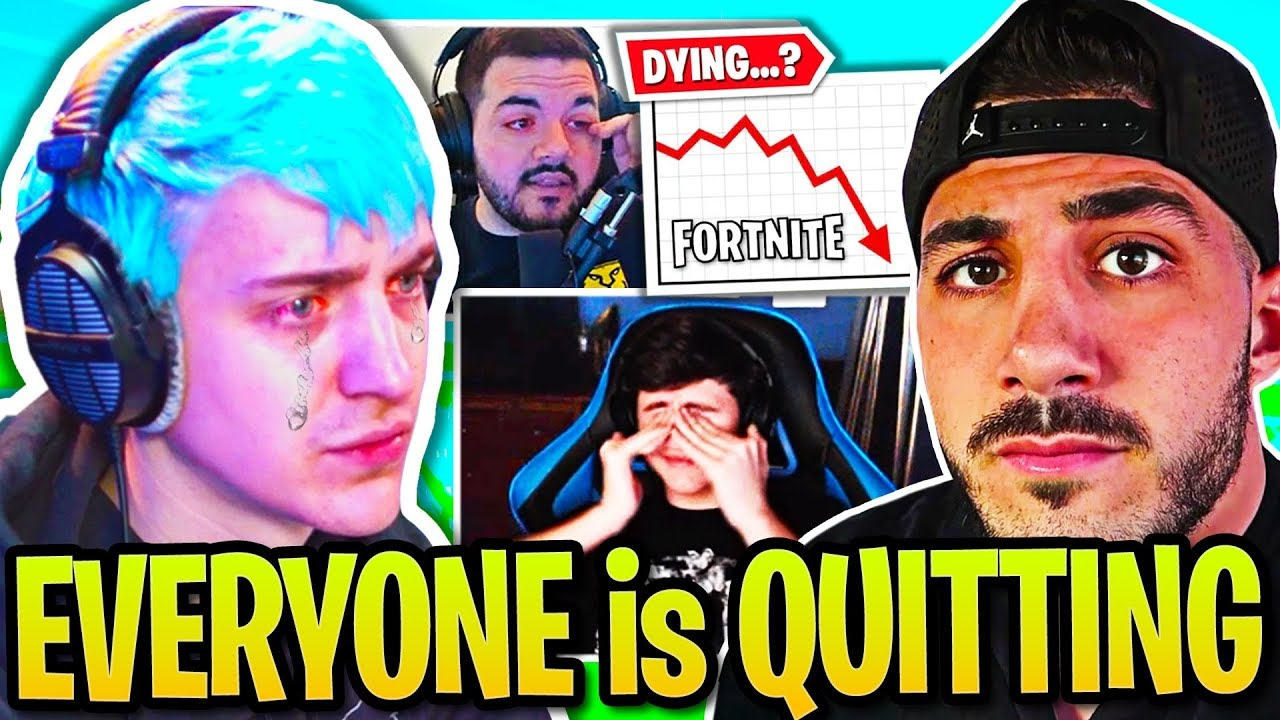 NINJA on Fortnite DYING...DrLUPO COURAGE NICKMERCS Explain Why They QUIT! Pros DEPRESSED & CRYIN