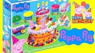 Vamos Fazer um Bolo de Aniversário pra Peppa Pig usando Massinhas Dough Play-Doh Brinquedos ToysBR