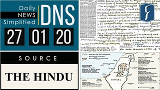 Daily News Simplified 27-01-20 (The Hindu Newspaper - Current Affairs - Analysis for UPSC/IAS Exam)