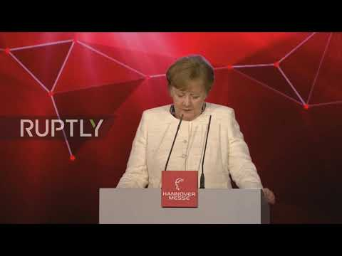 Germany: Merkel, Nieto praise free trade in Hannover Messe Fair