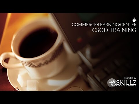 CSOD Training Series - Web based Training Management