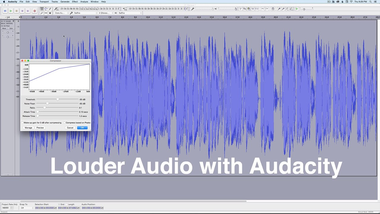 how to make your audio louder