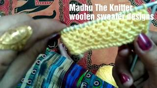 Knitting pattern for gents sweater / cardigan / ladies sweater / kids or  baby sweater in hindi #21