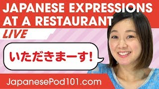 Japanese Expressions Used at a Restaurant - Basic Japanese Phrases
