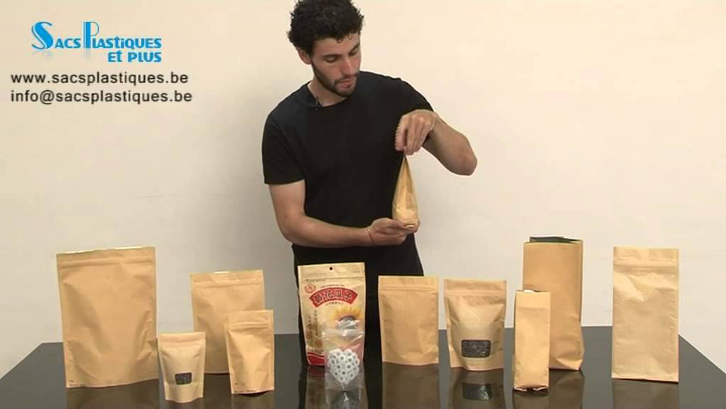 Bien connu Sacs en papier kraft - YouTube GD02