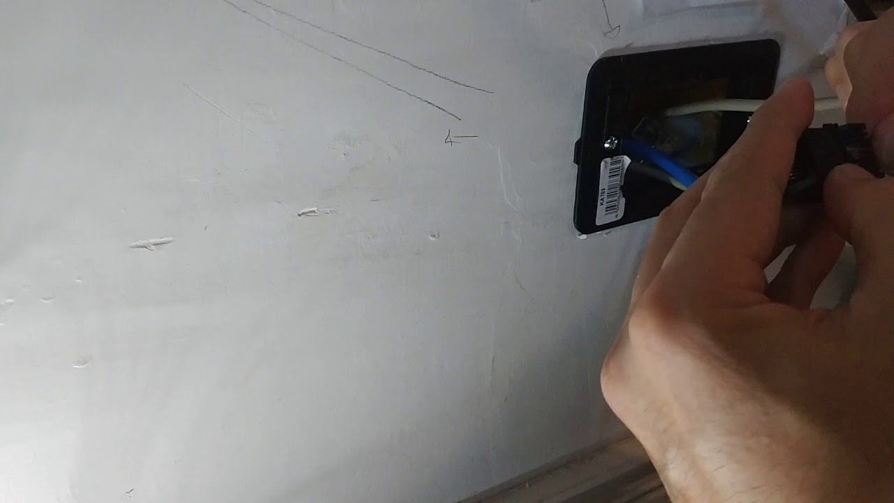 Schema Collegamento Presa Telefonica Rj11 : Come collegare presa telefonica a muro rj11 youtube