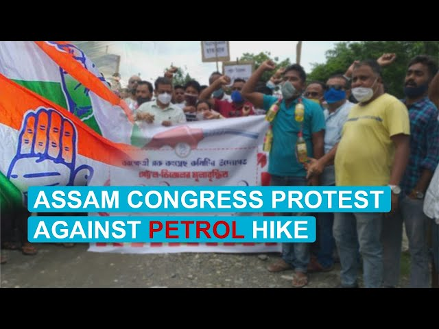WATCH: Congress stages protest against price hike all across Assam
