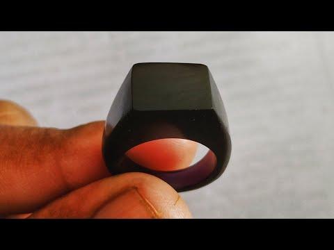 DIY Black Resin Ring 💍 || ResinArt || ResinCraft || Resin Tutorial  || Catwood Creation ||