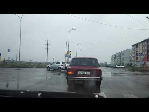 проспект Кузбасский, город Юрга (из авто)