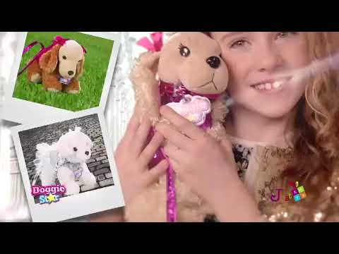 3394912008 Doggie Star Λούτρινο Κουταβάκι Τσαντάκι - 5 Σχέδια (DS19 ...