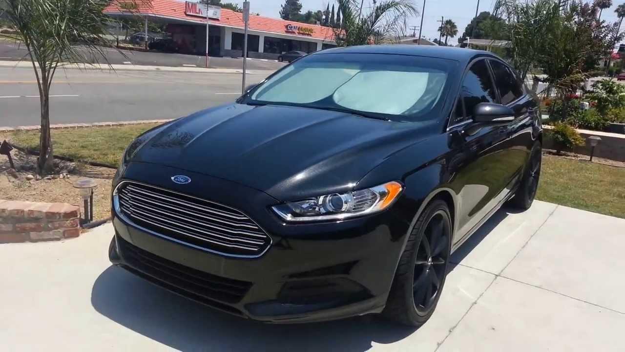 Ford Fusion Titanium W Black Rims Black
