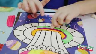 Уроки творчества с Калякой-Малякой®: Раскрашиваем пластилином