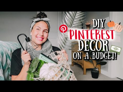 DIY PINTEREST INSPIRED FALL HOME DECOR 2019 - DECORATING ON A BUDGET!