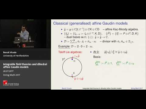 Benoit Vicedo - Integrable field theories and dihedral affine Gaudin models