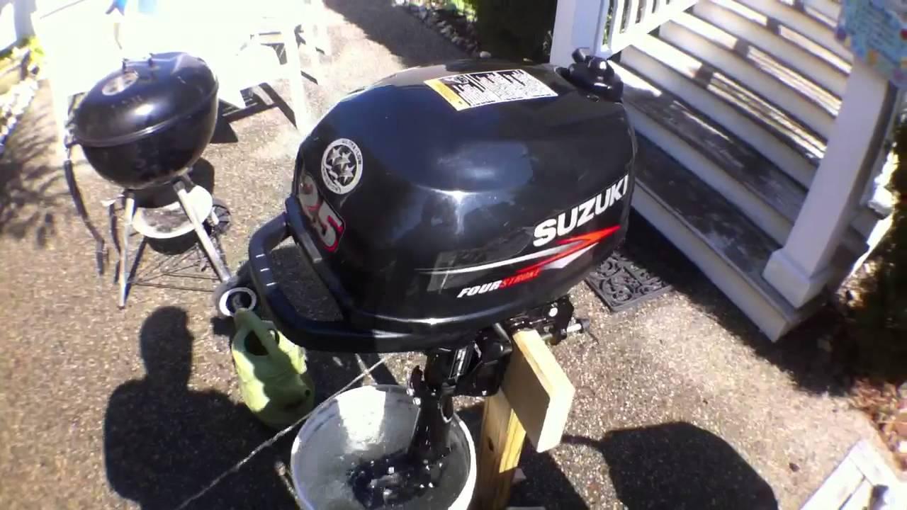Suzuki outboard 2 5 hp test run youtube for Suzuki 2 5 hp motor