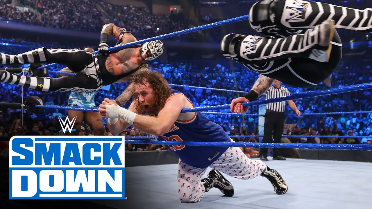 Download The NBA's Atlanta Hawks' Trae Young affects the Ten-Man Tag Team Match: SmackDown, Sept. 10, 2021