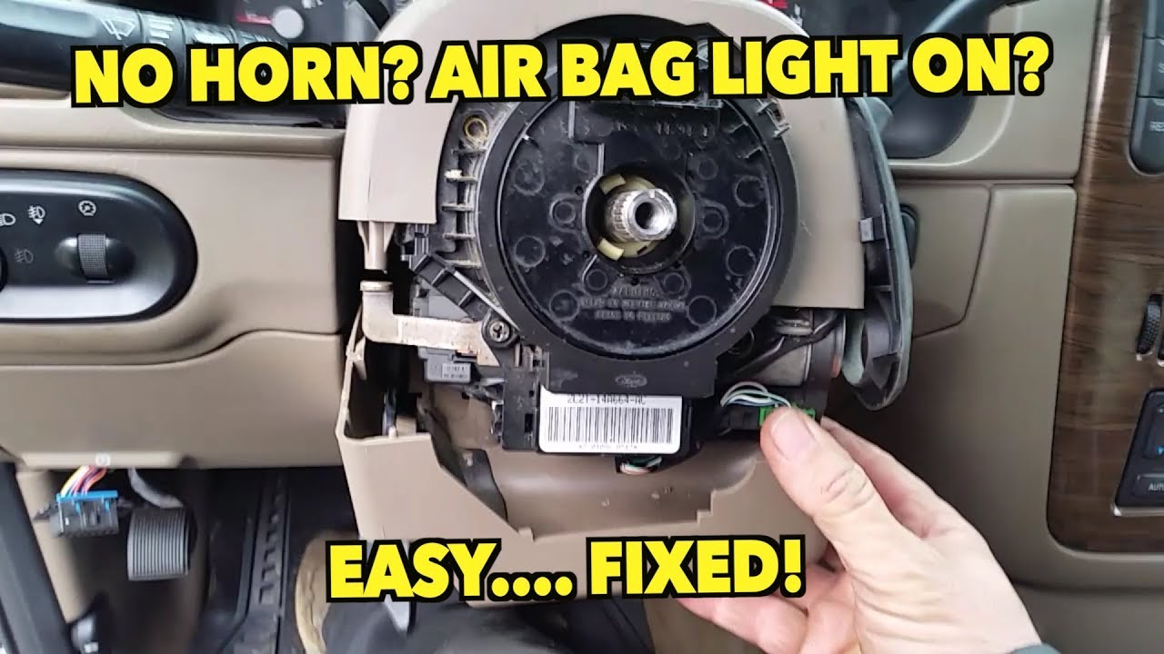 hight resolution of no horn flashing air bag light easy clockspring replacement 02 05 explorer