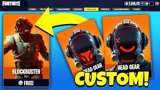 NEW BLOCKBUSTER SKIN *CUSTOM* HEAD GEAR! (Fortnite Update 4.4)