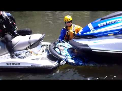 Swiftwater Rescue Boat Training - Vessel Under Tow Drill