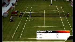 Stich vs Roddick Top Spin 3 Ps3
