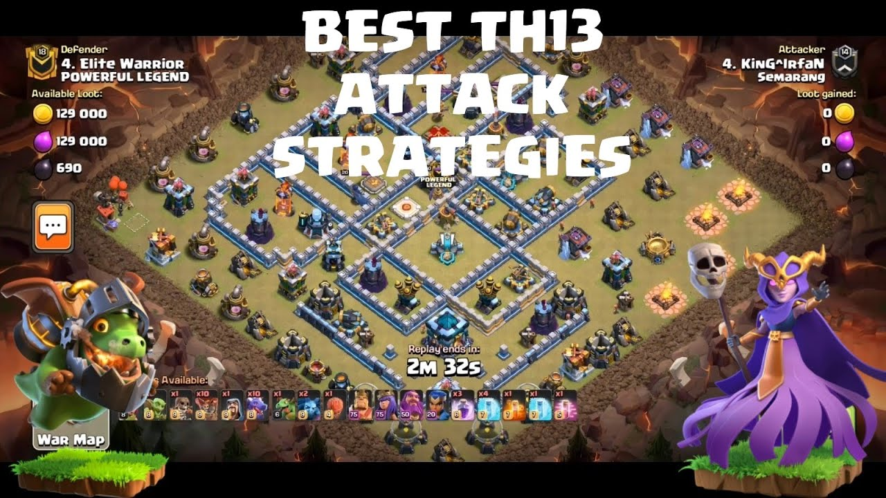 TH13 best attack Strategies | Clash Clans TH13| 3 star TH13 war base