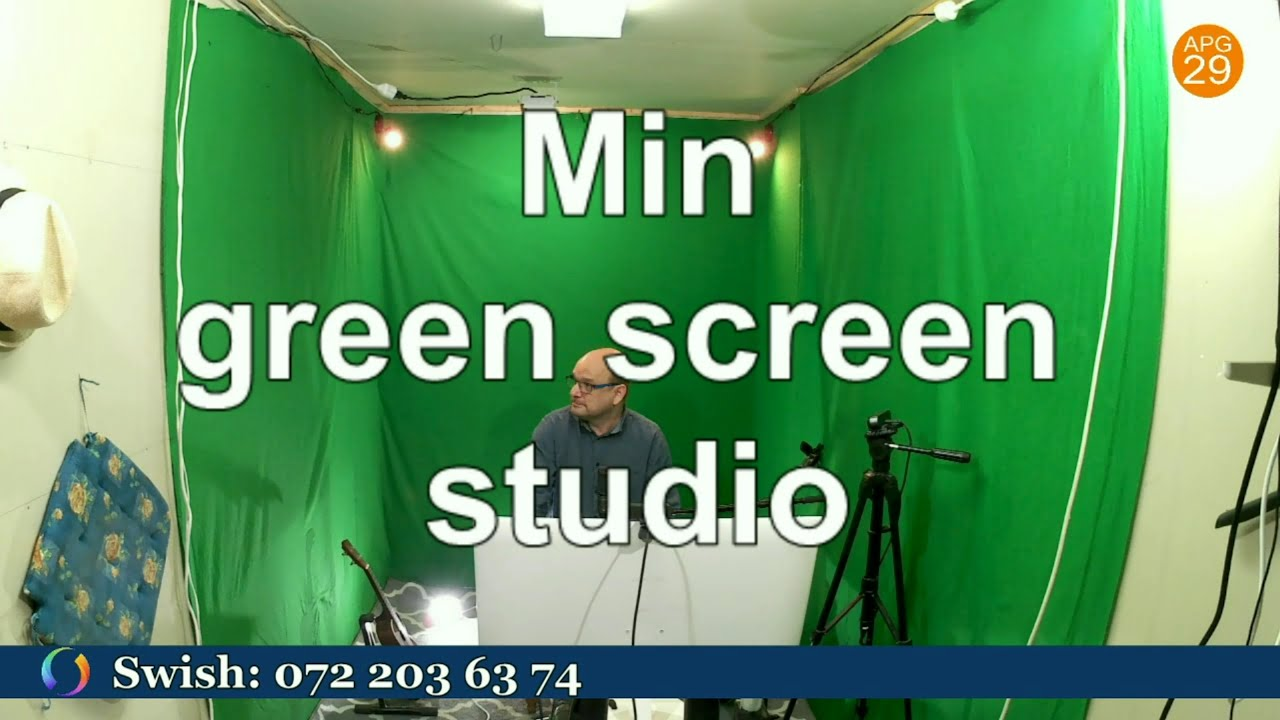 Min green screen studio.