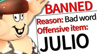 "roblox banned the name ""julio"" and we are all angry"