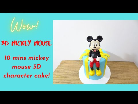 3D mickey mouse cake! step by step tutorial!