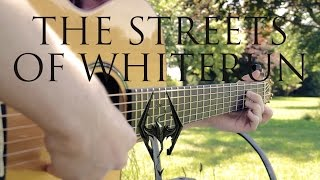 Skyrim OST - The Streets Of Whiterun - Fingerstyle Guitar Cover - Free Tabs