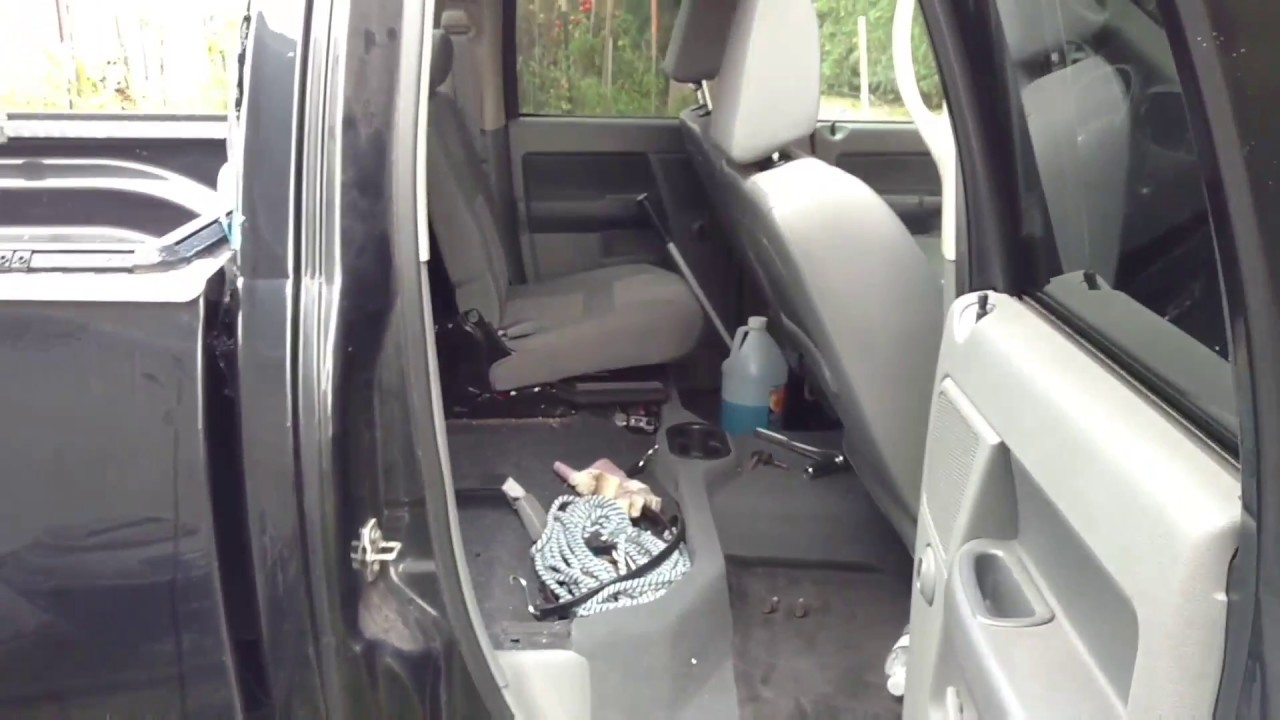 DIY remove the back seat of a Dodge ram 1500 crew cab ...