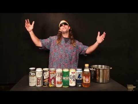 Entire bottom shelf Malt Liquor Tasting Demonstration