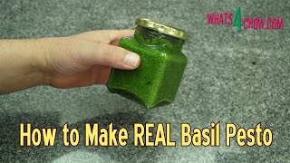 How to Make REAL Basil Pesto - Quick & Easy Basil Pesto Recipe - Homemade Basil Pesto
