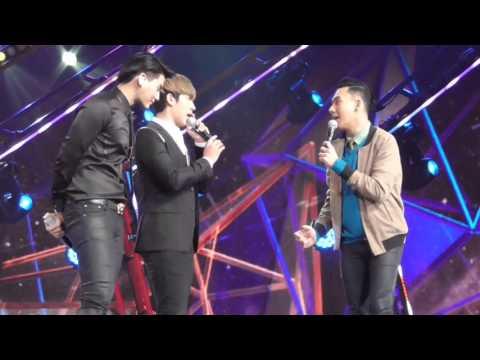 [Fancam]ตั้ม วราวุธ พูดคุยกับฮั่น แกง The Star12 รอบประกาศผล6คน @GMM LiveHouse 10.04.2016